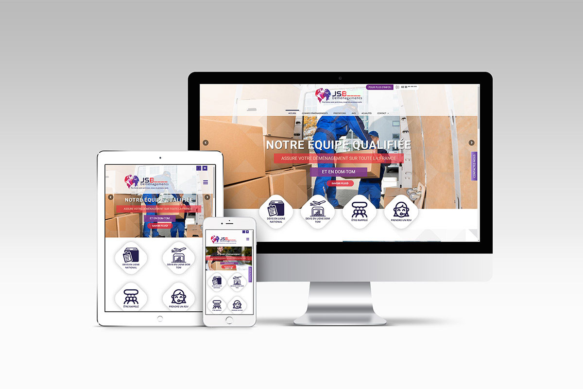 JSB Déménagements Annonce Nouveau Site Internet 263