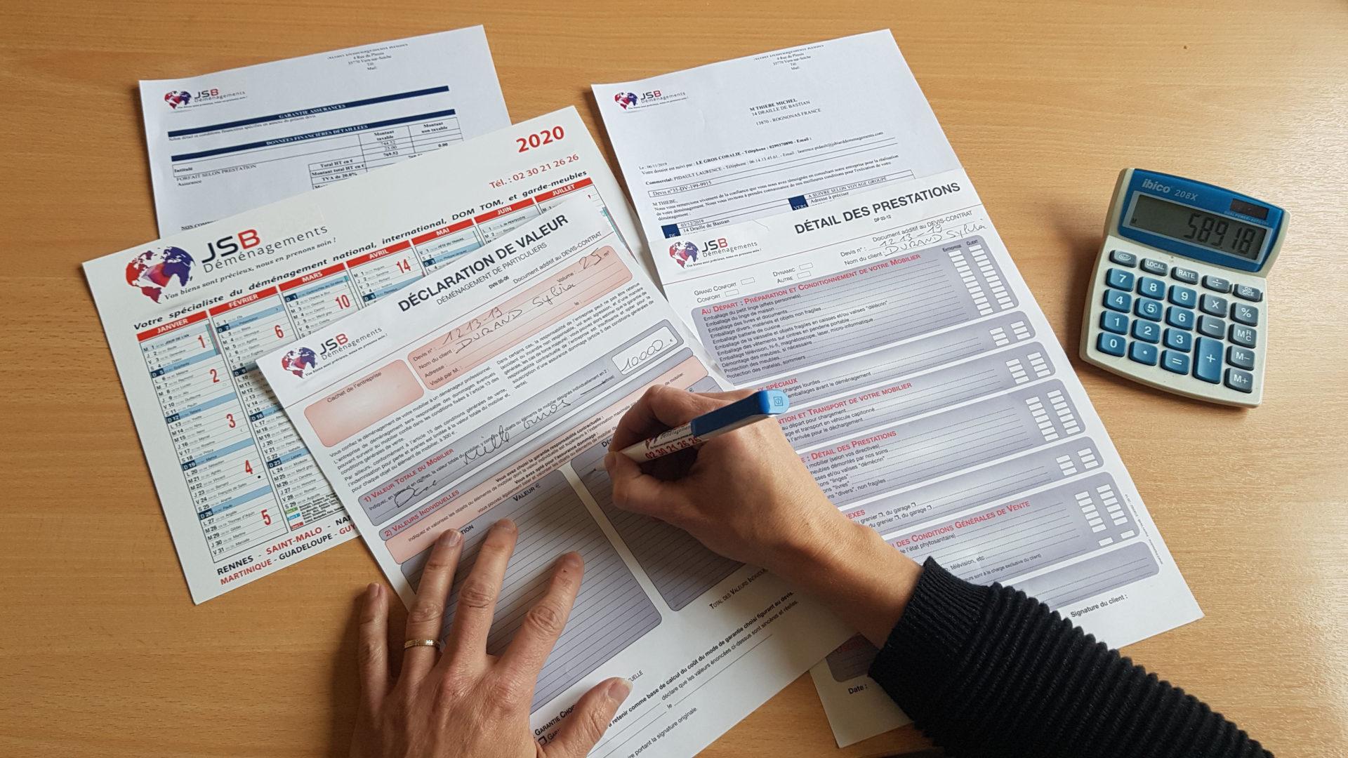 JSB Déménagements Signature Devis 270